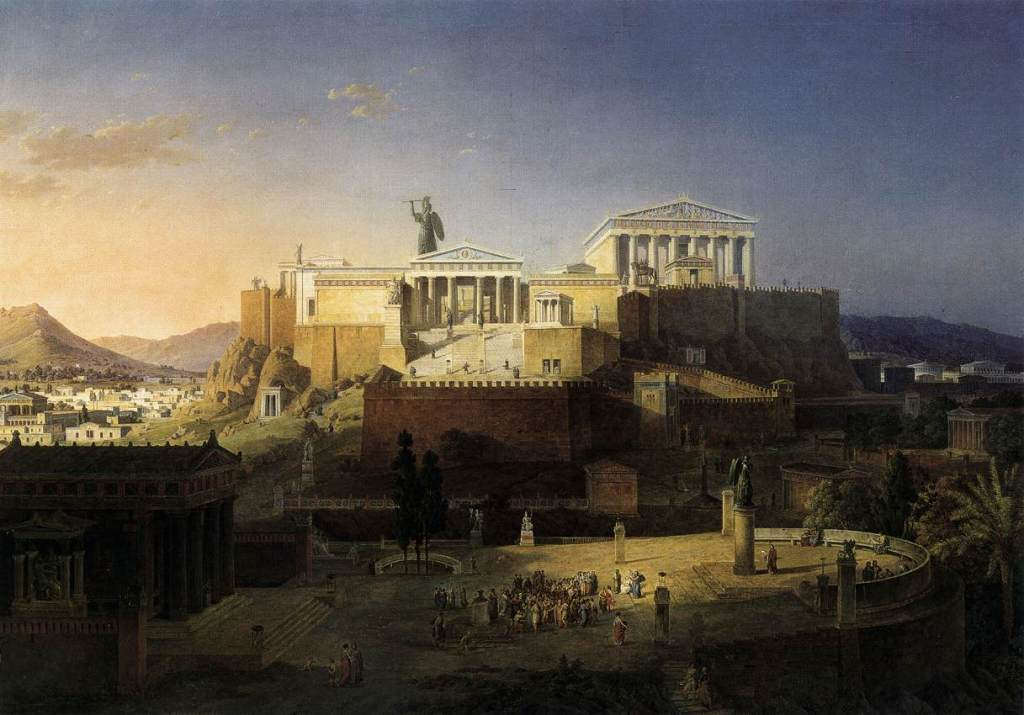 The Acropolis at Athens, Leo von Klenze (1846)