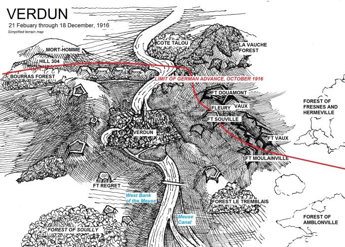 Verdun, Meuse, map